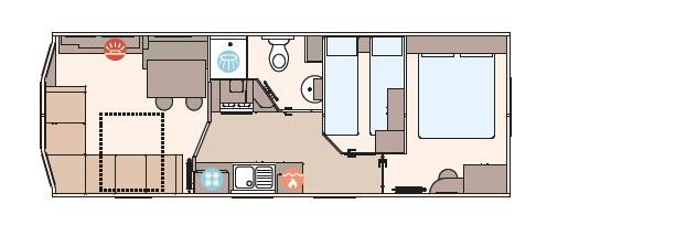 ABI - ABI Oakley 39ft x 12ft - 3 Bedroom  Floorplan